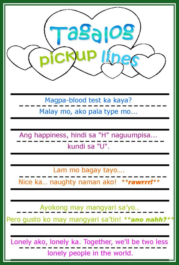 Pick lines pinoy new up PICK UP