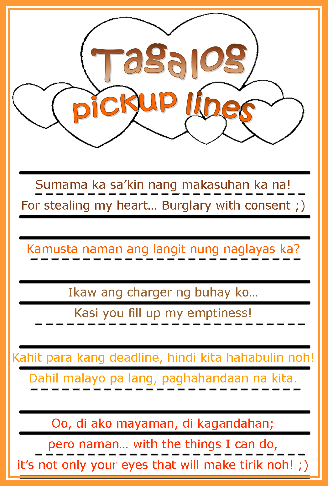 Cheesy Pinoy Pickup Lines 12 Jumbled Coffee Thoughts