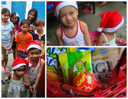 In Christmas 2011, Micai was big enough to give out the candies that year.