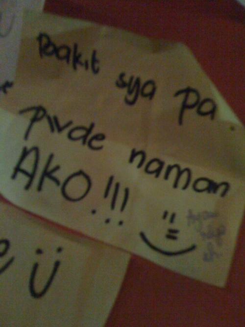 Kahit pwede ka, kung ayaw niya sa'yo....  talagang patulan?!  hahaha