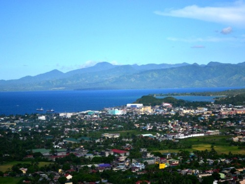 Next stop: Lignon Hill. It's a tiring, steep climb from the base but it sure was worth it. Amazing view from the top! If Mang Ramil is right, the huge expanse of blue is Misibis Bay :)