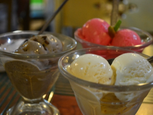 These are the ice cream flavors you should try at Colonial Grill: Tinutong, Sili and Pili.