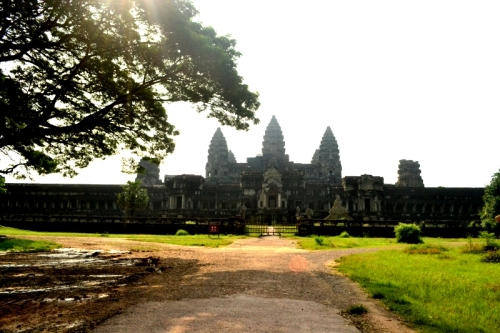 The sprawling Angkor Wat from the back.