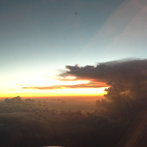 Skyview of the gorgeous sunset on the way to Hong Kong.