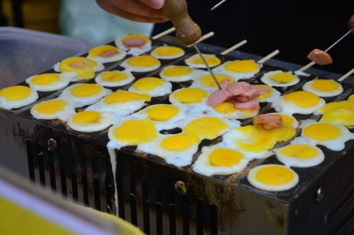 Grilled ham and egg
