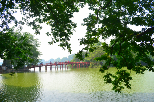 The Huc Bridge leads to the entrance of the 18th century Buddhist temple, The Temple of the Jade Mountain.