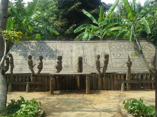 Jarai Tomb House. This was built in 1998 by men from the Jarai tribe, one of the largest ethnic groups in Central Highlands. This tomb house can fit 30 dead people; broken plates, cups are placed inside because they believe in providing necessities for the departed in the after life.