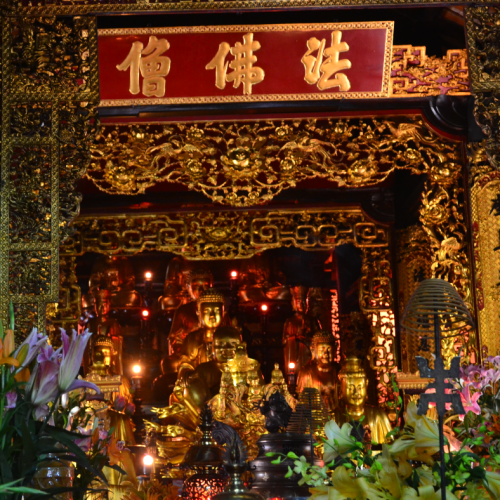 The temple is home to a number of valuable statues.