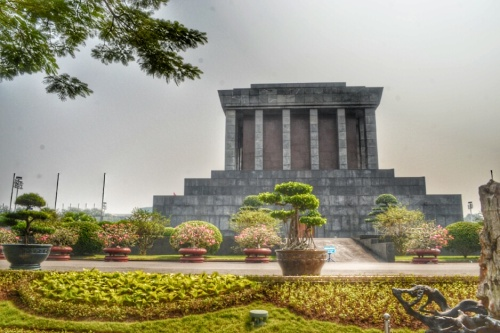 Ho Chi Minh's Mausoleum taken from the back.