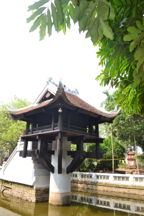 The One Pillar Pagoda is another historic Buddhist temple in Hanoi. It's located within the  compound of the Parliament House. Locals believe that praying here will bless one with prosperity.