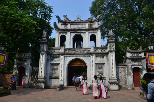 This is the main gate of the Temple of Literature; built in 1070 and one of the many temples dedicated to Confucius.