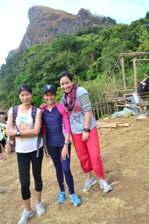 We reached the campsite around 10AM.  On the photo   are Shie,a solo traveler from Mindoro and Kaye, a blogger and good friend who managed to keep in touch long after she left the company I'm still in.